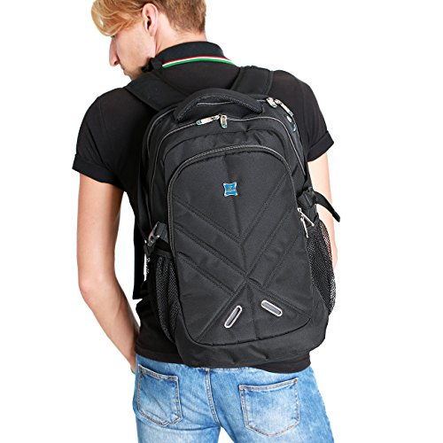 Laptop Backpack Large Capacity School Bag Business Backpack with Rain Cover Multifunctional Shockproof