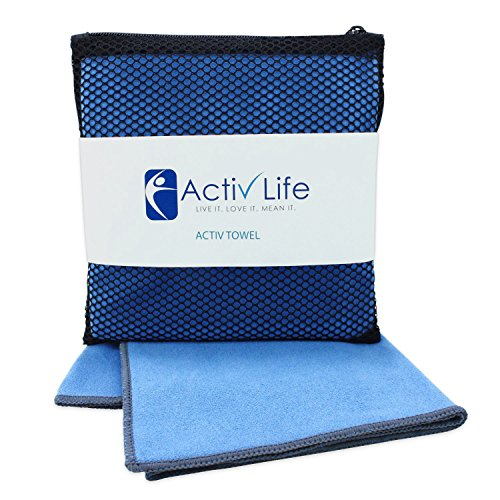 Activ Life Microsuede Gym Workout Sports Towel for Men & Women Athletes, Camping & Travel
