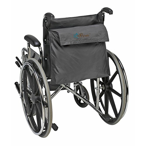 Priva Wheelchair Bag with Velcro Closure and Exterior Pocket,  19 x 14.5, Black