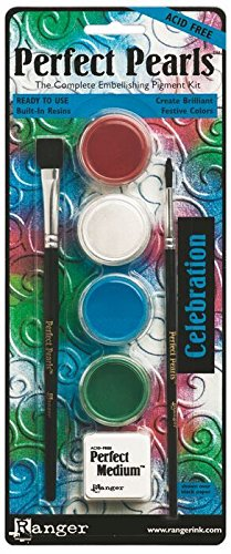 Crafters Workshop Perfect Pearls Pigment Powder Painting Kit, Celebration