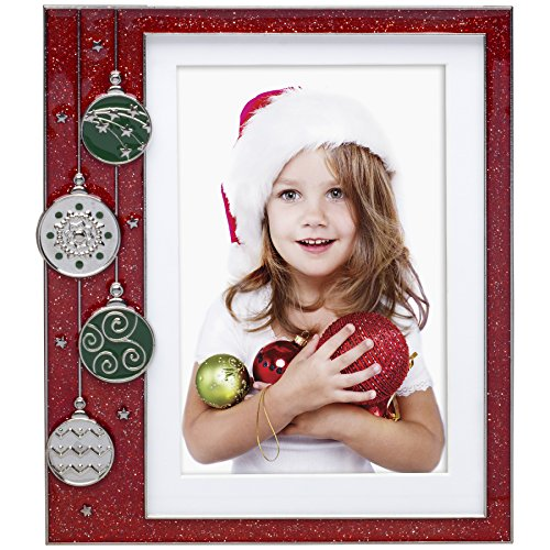 Red Ornament Pewter Picture Frame