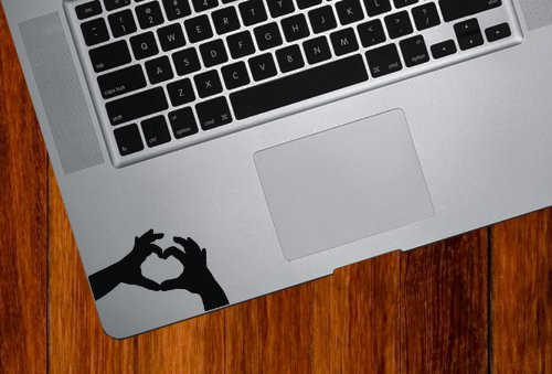 Heart Hands - Trackpad / Keyboard - Vinyl Decal (Color Variations Available)