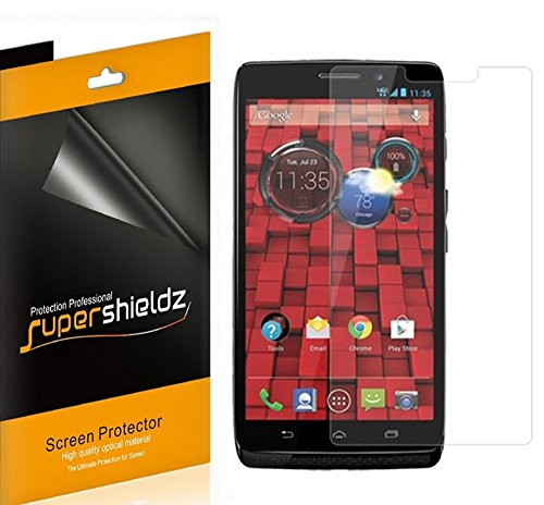 [6-Pack] SUPERSHIELDZ- Anti-Glare & Anti-Fingerprint (Matte) Screen Protector For Motorola Droid Maxx (Verizon) + Lifetime Replacements Warranty [6-PACK] - Retail Packaging
