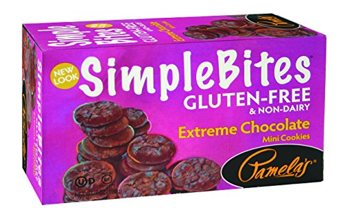 Pamela's Products Gluten Free Simple Bites Mini Cookies, Extreme Chocolate, 7 Ounce