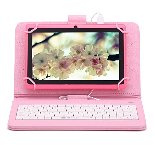 iRULU eXpro X1 7 Android 4.4 KitKat Tablet PC, GMS Certified by Google, 1024*600 Resolution, Quad Core, Dual Cameras, 8GB Nand Flash (Pink)