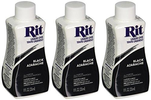 Rit Dye Liquid Dye, 8 fl oz, Black, 3-Pack