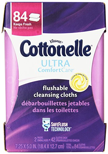 Cottonelle Ultra Comfort Care Flushable Cleansing Cloths Refill, 84 Count