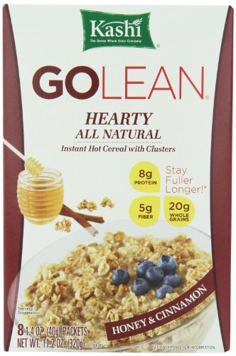 Kashi GOLEAN Instant Hot Cereal, Hearty Honey & Cinnamon, 11.28-Ounce Boxes (Pack of 6)