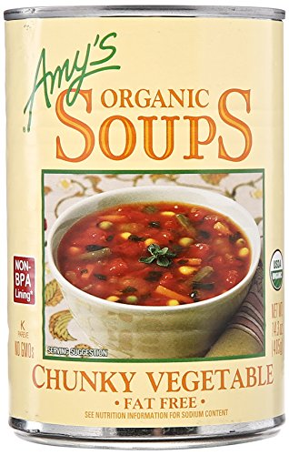 Amy's Organic Soups, Fat Free Chunky Vegetable, 14.3 Ounce