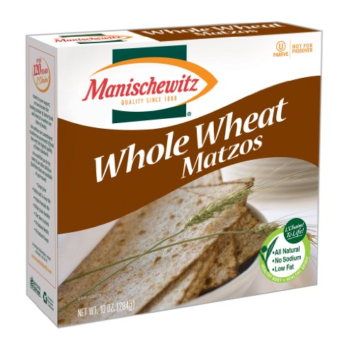 MANISCHEWITZ Whole Wheat Matzo, 10-Ounce Boxes (Pack of 8)