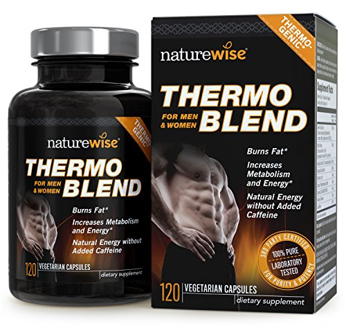 NatureWise Thermo Blend **NEW Advanced Formula** Thermogenic Fat Burner for Weight Loss and Natural Energy, 120 count
