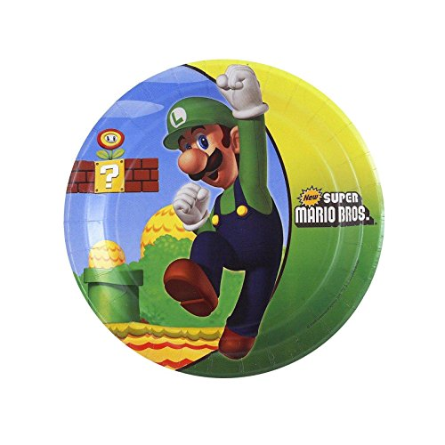 Super Mario Bros. Dessert Plates (8 per package)