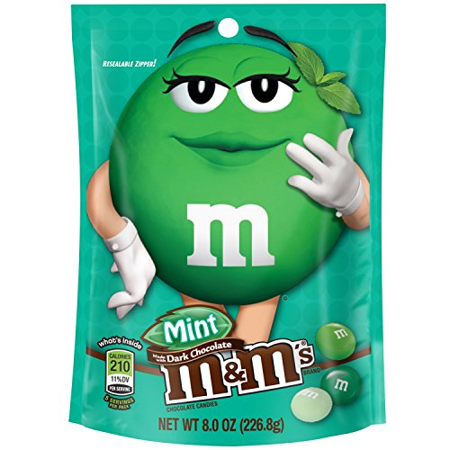 M&M'S Dark Chocolate Mint Candy 8-Ounce Bag (Pack of 6)