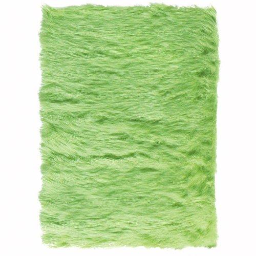 Faux Sheepskin Area Rug, 3'X5', Lime