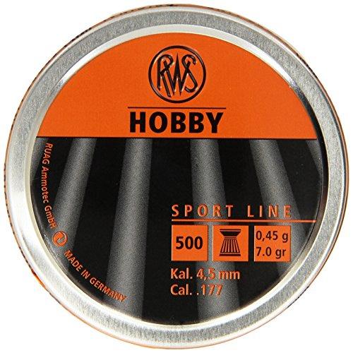 Umarex RWS Hobby 2317376 Sport Line 7.0 Grain Air Gun Pellets, 0.177 Caliber, Silver