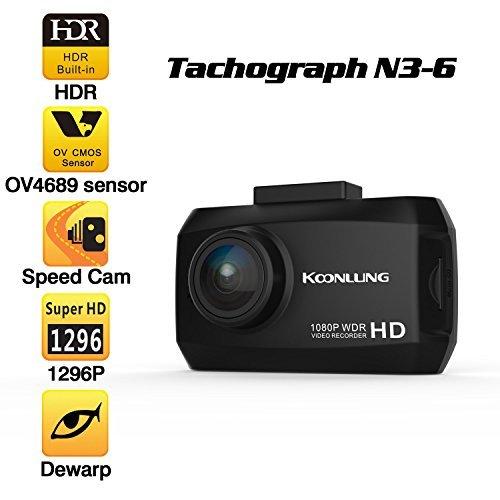 Car DVR, Car Dashboard Camera, TWOBIU(TM) N3S HD 1296 Top Seller Car DVR 1.5 Screen