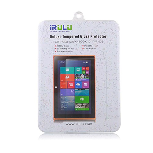 iRULU Tempered Glass Screen Protector for IRULU Walknbook - 10.1 2 in 1 Convertible Laptop & Tablet, High Quality Premium Hard Screen Coating 9H Hardness, 0.3mm Thickness Fingerprint-Proof ,Anti-Oil ultra-clear transparency Protector