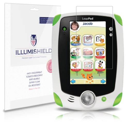 iLLumiShield - LeapFrog LeapPad Ultra 7 Crystal Clear Screen Protectors with Anti-Bubble/Anti-Fingerprint - 3-Pack + Lifetime Replacements