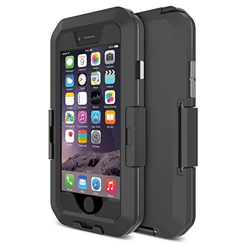iPhone 6 Case , TETHYS Movee iPhone 6 Waterproof Case [Matte Black] - Protective Rugged Apple iPhone 6 6S Cases Hard Cover 4.7 Inches Secure-Lock [NOT COMPATIBLE with TouchID Sensor]