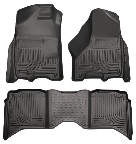 Husky Liners 99001 WeatherBeater Black Front and 2nd Seat Floor Liner