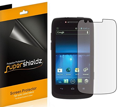 [6-Pack] SUPERSHIELDZ- High Definition Clear Screen Protector Shield For ZTE Boost Force N9100 / Sprint Force + Lifetime Replacements Warranty [6 Pack] - Retail Packaging
