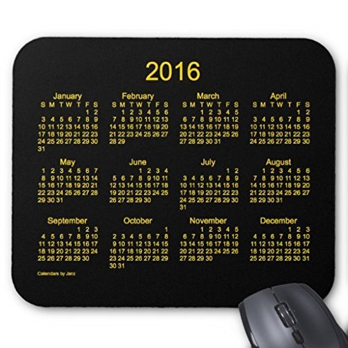 Maliyna 2016 Neon Gold Calendar by Janz Mouse Pad 9x7 Inch