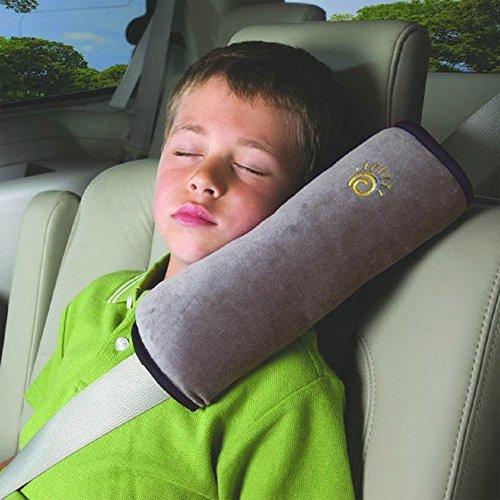 Gearbest® Children Car Neck Pillow Shoulder Pad Vehicle Seatbelt Soft Headrest Cushion(GRAY)
