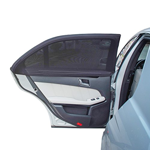 TFY Universal Car Side Window Sun Shade - Protects Your Kids from Sun Burn - Double Layer Design - Maximum Protection - Fit Most of Vehicle, Most of sedan, Ford, Chevrolet, Buick, Audi, BMW, Honda, Mazda, Nissan and Others - 2 Pieces