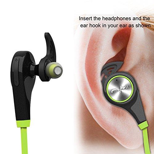 Bluetooth Headphones, Wireless Earbuds Bluetooth Headset with mic Sports running Earphones for iPhone Sony Samsung motorola LG (Green)