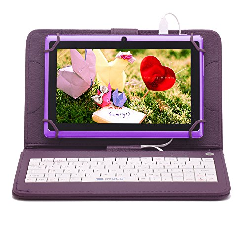 iRULU eXpro X1 7 Android 4.4 KitKat Tablet PC, GMS Certified by Google, 1024*600 Resolution, Quad Core, Dual Cameras, 8GB Nand Flash (Purple)