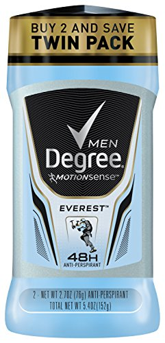 Degree Men Adrenaline Series Antiperspirant & Deodorant, Everest 2.7 oz, Twin Pack