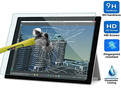 Surface Pro 4 Screen Protector, IVSO® Microsoft Surface Pro 4 Ultra-thin 9H Hardness Highest Quality HD clear& Premium Tempered Glass Screen Protector for Microsoft Surface Pro 4 Tablet (1pcs)