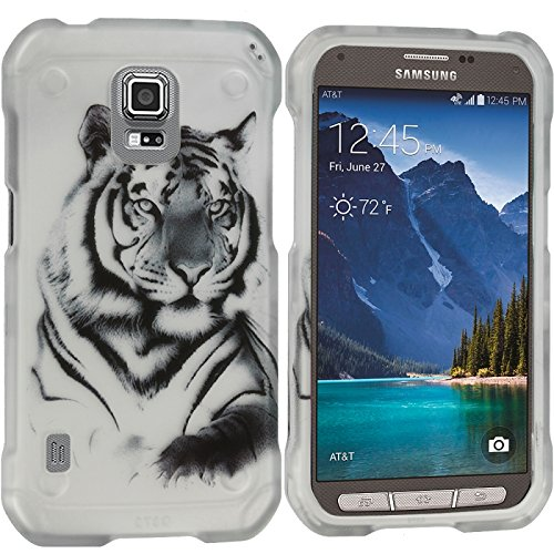 Cell Accessories For Less (TM) Tiger 2D Hard Rubberized Design Case Cover for Samsung Galaxy S5 Active Bundle (Stylus & Micro Cleaning Cloth) - By TheTargetBuys