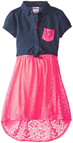 Sugah & Honey Big Girls' Lace and Denim Dress