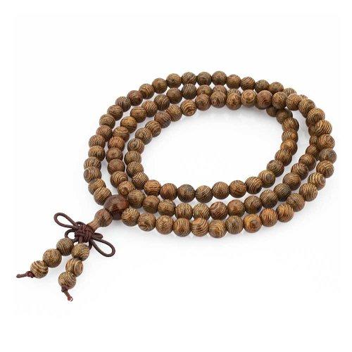 108 Agarwood Wrist Mala Tibetan Buddhist Prayer Beads Mala Necklace