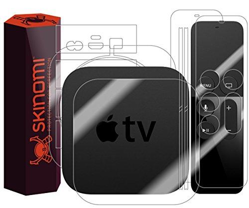 Apple TV Full Body Skin (4th Gen,2015), Skinomi TechSkin Full Coverage Skin Protector for Apple TV 2015 Front & Back Clear HD Film