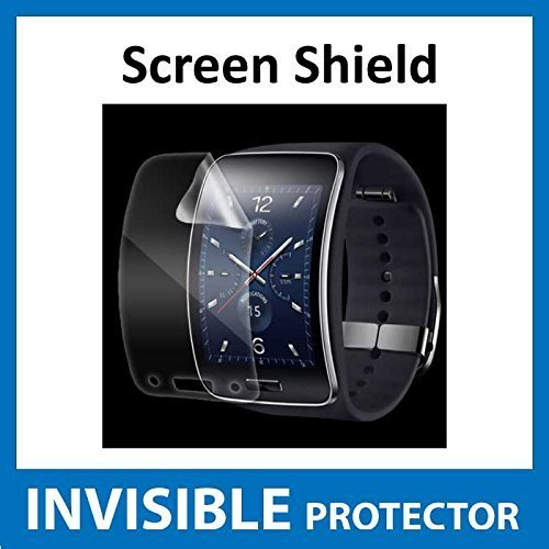Samsung Galaxy Gear S Watch Front INVISIBLE Screen Protector (Front Shield included) Military Grade Protection Exclusive to ACE CASE