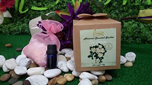 Scented Sachet Thai Jasmine Scents 100 g, Thai Jasmine Sachet Gift Set Lovely Beaded Sachets for Pillow, Thai Jasmine Sachets for Storage, Thai Jasmine Sachets for Closets,