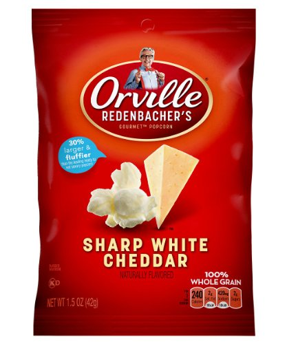 Orville Redenbacher Ready to Eat Popcorn, Sharp White Cheddar, 1.5-Ounce (Pack of 8)