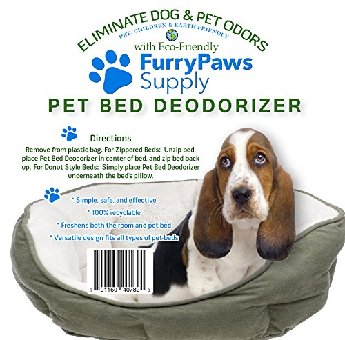 Furry Paws Supply Pet Bed Deodorizer, Eliminates Pet Odors, Fits All Pet Beds, No Need for Sprays 100% Recyclable