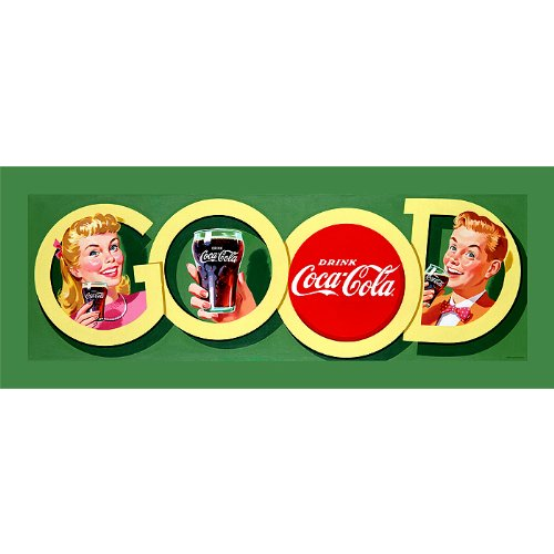 Trademark Good Coke Stretched Canvas Print-12x36 -Inch
