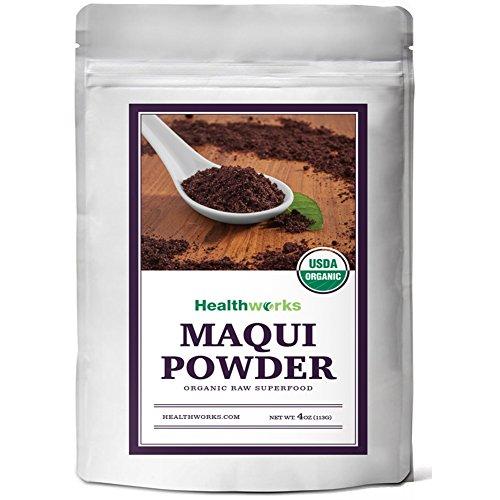 Healthworks Maqui Berry Powder 4 oz Raw Organic USDA Certified
