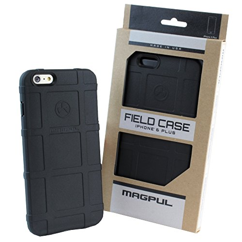 iPhone 6 Plus/6S Plus 5.5 Case, Magpul® [Field] Polymer Case Cover MAG485 Retail Packaging for Apple iPhone 6 Plus/6S Plus + TJS® Tempered Glass Screen Protector (Black)