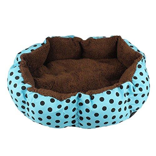 Sandistore Soft Fleece Pet Dog Puppy Cat Warm Bed House Plush Cozy Nest Mat Pad(Blue)