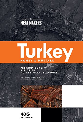 The Meat Makers Gourmet Honey and Mustard Turkey Jerky 40 g (Pack of 12)