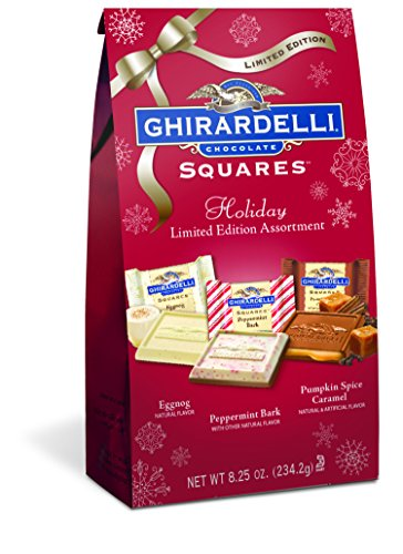 Ghirardelli Limited Edition Holiday Assorted Squares Bag, 8.25 Ounce