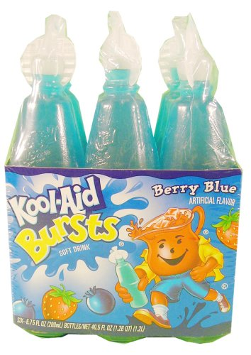 Kool-Aid Bursts Berry Blue 6 ct - 8 Pack