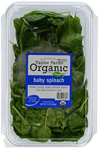 Taylor Farms Organic Baby Spinach, 16 oz Clamshell
