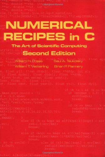 Numerical Recipes in C: The Art of Scientific Computing, Second Edition