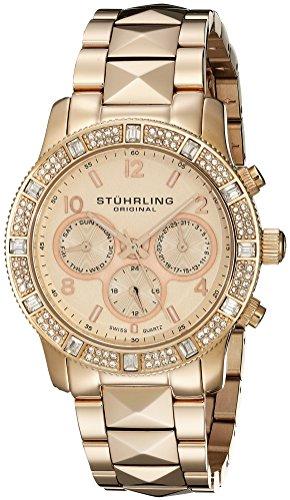 Stuhrling Original Women's 697.03 Symphony Nobilis Analog Display Swiss Quartz Rose Gold Watch
